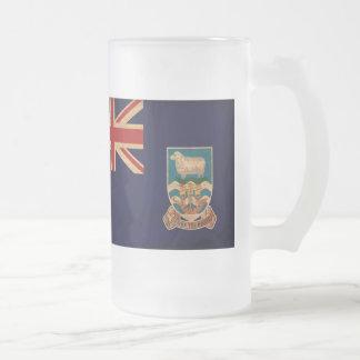 フォークランド諸国の旗 フロストグラスビールジョッキ