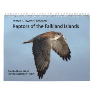 フォークランド諸国の猛禽 カレンダー