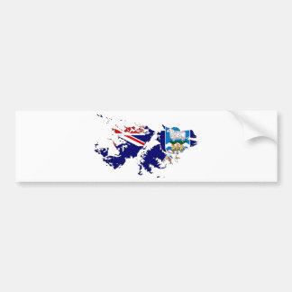 フォークランド諸国(マルヴィナス)の旗の地図FK バンパーステッカー
