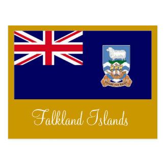 フォークランド諸国Islasマルヴィナスの旗 ポストカード