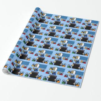 フォークリフトのおもしろいの子供のギフトの包装紙の多く ラッピングペーパー