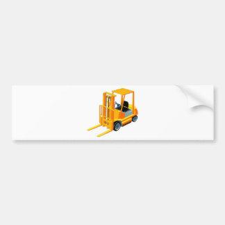 フォークリフト(別名上昇トラックかフォークトラック) バンパーステッカー
