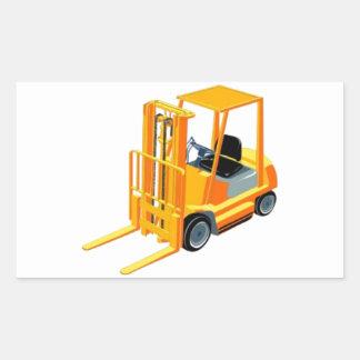 フォークリフト(別名上昇トラックかフォークトラック) 長方形シール