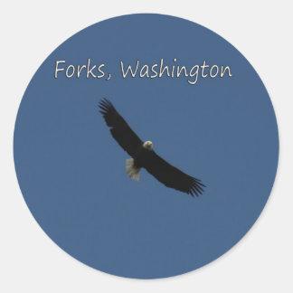 フォーク上のワシ、ワシントン州 ラウンドシール