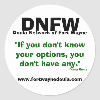 フォートウェインのステッカーのdoulaネットワーク ラウンドシール