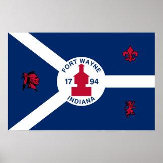 フォートウェイン、インディアナ、米国は印を付けます ポスター