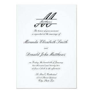 フォーマルでシンプルなエレガント-結婚式招待状 カード