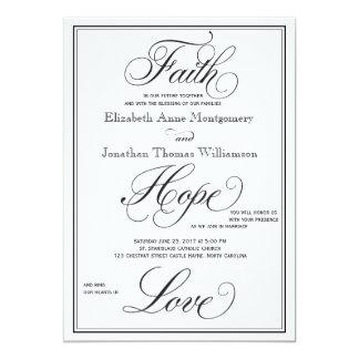 フォーマルな信頼の希望愛原稿の結婚式招待状 カード