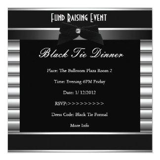 フォーマルな準正装の金属のストライプの企業のな招待 カード