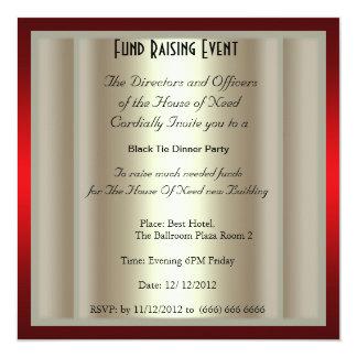 フォーマルな準正装を要する晩餐会のパーティの招待状 カード