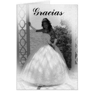 フォーマルな白黒、Gracias カード