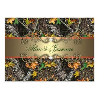 フォーマルな迷彩柄の結婚式招待状5x7 カード
