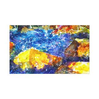 フォールリバーの水彩画のプリント キャンバスプリント
