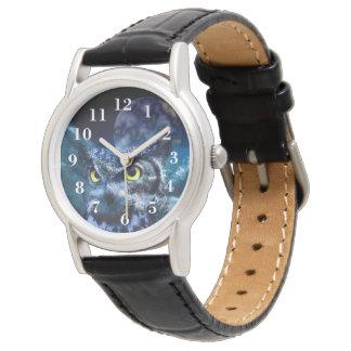 フクロウおよび夜空 腕時計