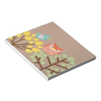 フクロウおよび木のノート ノートパッド