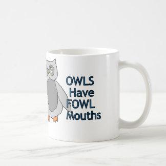 フクロウに家禽の口のマグがあります コーヒーマグカップ