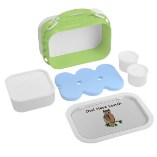 フクロウに昼食のYuboのランチボックスがあります ランチボックス