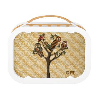 フクロウのお弁当箱の木 ランチボックス