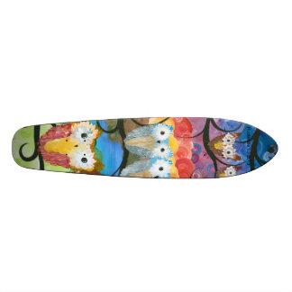フクロウのひよこのスケート板 20CM スケートボードデッキ