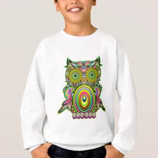 フクロウのサイケデリックなポップアート スウェットシャツ