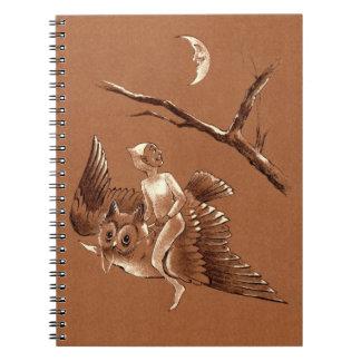 フクロウのノートの妖精の飛行 ノートブック