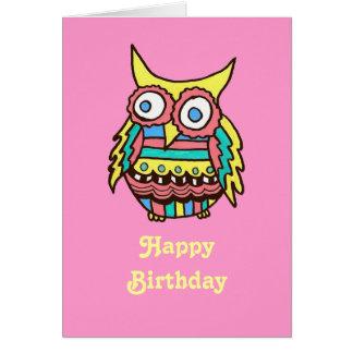 フクロウのバースデー・カード カード