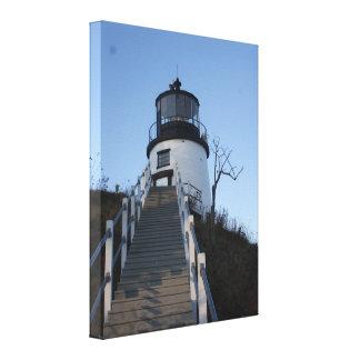 フクロウのヘッド灯台 キャンバスプリント