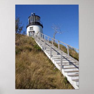 フクロウのヘッド灯台、メイン ポスター
