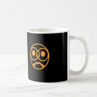 フクロウのロゴのデザイン コーヒーマグカップ