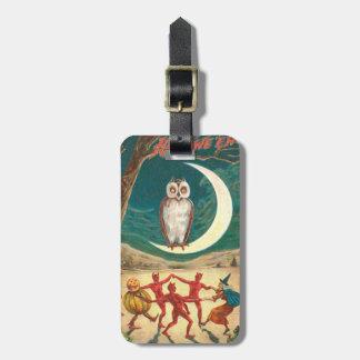 フクロウの三日月形の月の魔法使いの鬼の創造物 ラゲッジタグ