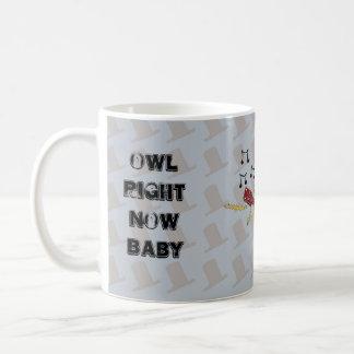 フクロウの今ベビーのロッカーのフクロウ コーヒーマグカップ