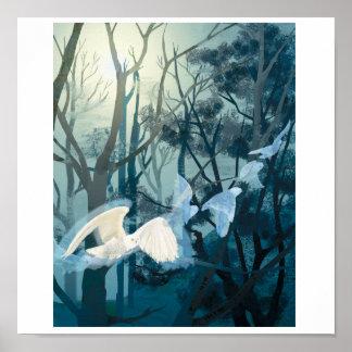 フクロウの呼び出し ポスター