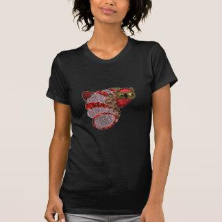 フクロウの女性のアメリカの服装の罰金のジャージーのTシャツ Tシャツ