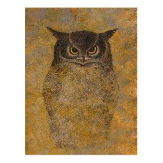 フクロウの日本人のファインアート はがき