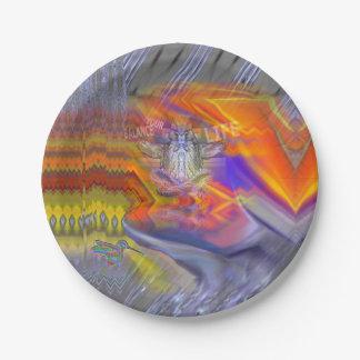 フクロウの浮遊残りのバランスの芸術のめい想 紙皿 小