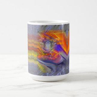 フクロウの浮遊残りのバランスの芸術のマグのめい想 コーヒーマグカップ