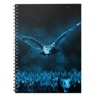 フクロウの狩り ノートブック
