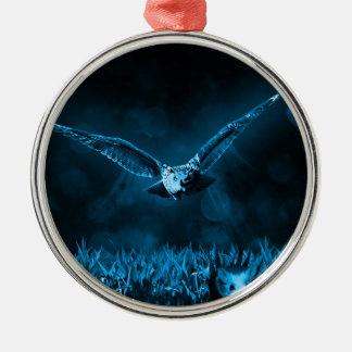 フクロウの狩り メタルオーナメント