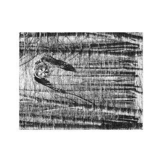 フクロウの白黒イメージ キャンバスプリント