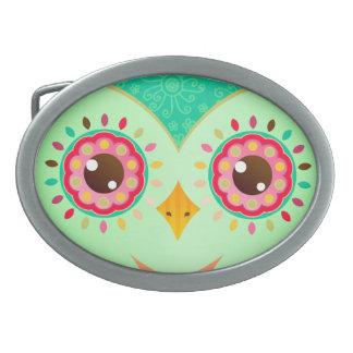 フクロウの目 卵形バックル
