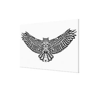フクロウの落書き6 キャンバスプリント