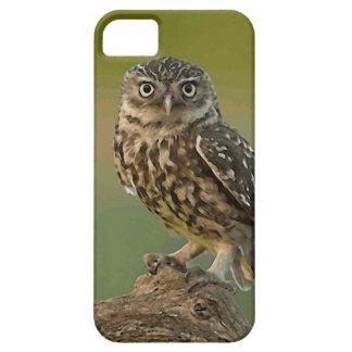 フクロウの鳥は木を注目します iPhone SE/5/5s ケース