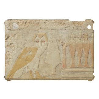 フクロウのHieroglyphic詳細、Hatshepsutの寺院、エジプト iPad Miniケース