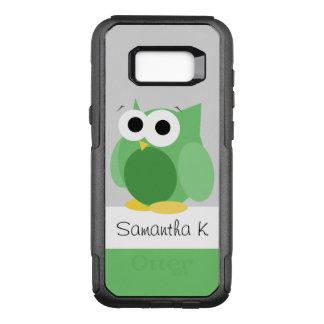 フクロウのSamsungのおもしろいな緑の銀河系S8 オッターボックスコミューターSamsung Galaxy S8+ ケース