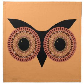 フクロウはカスタムな布のナプキンを注目します ナプキンクロス