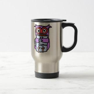 フクロウはコーヒー・マグを抱き締めます トラベルマグ