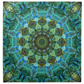 フクロウは万華鏡のように千変万化するパターンを注目します ナプキンクロス