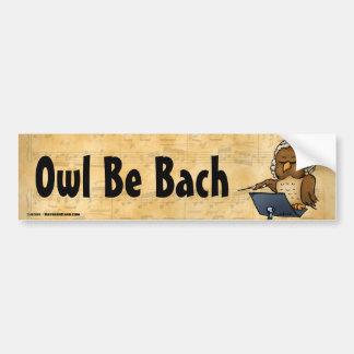 フクロウはBachのおもしろいなフクロウの漫画です バンパーステッカー