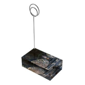 フクロウを掘り進むこと テーブルカードホルダー