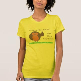 フクロウショーの自制のアメリカの服装のTシャツ Tシャツ